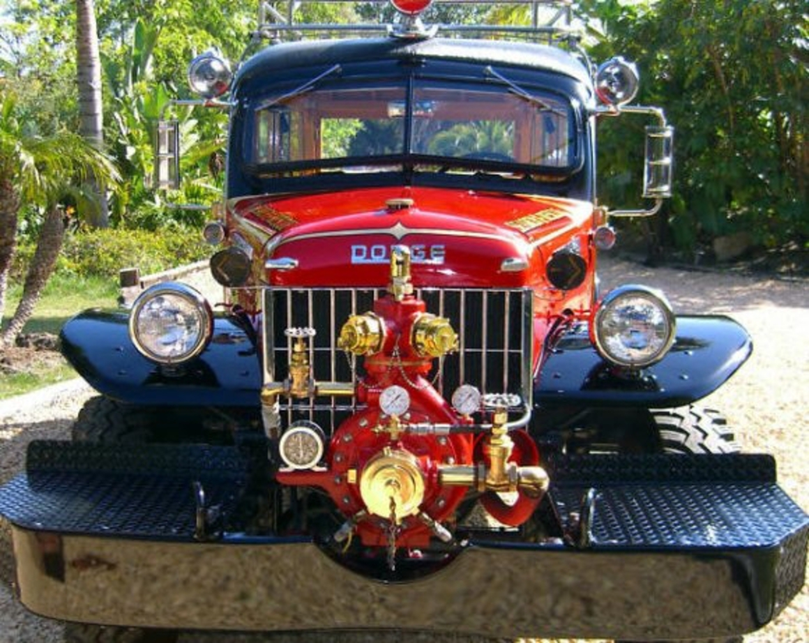 Topworldauto Photos Of Dodge Power Wagon Fire Truck Photo Galleries Ram Trailer Ke Wiring The Nose Features A Massive Bumper And Center Mounted Barton Pump Brush