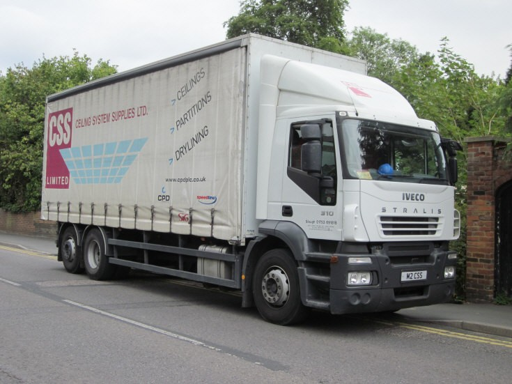CSS Ceiling System Supplies Ltd's Iveco Stralis 310 lorry,