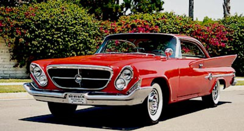 The 1961 Chrysler 300-G hardtop coupe, part of the letter-series 300