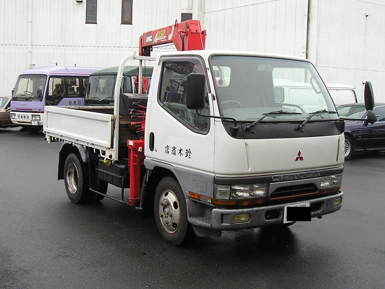 1997 Mitsubishi Canter Truck 2Ton Crane Japanese used truck