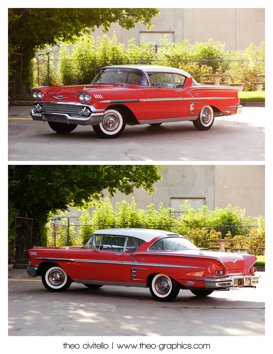 I loved the twin antennas mounted on the rear fenders! 1958