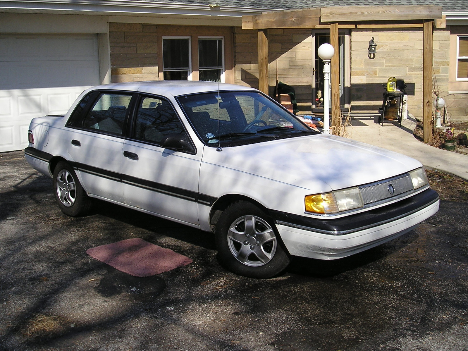 1990 mercury topaz 4 dr gs sedan picture exterior