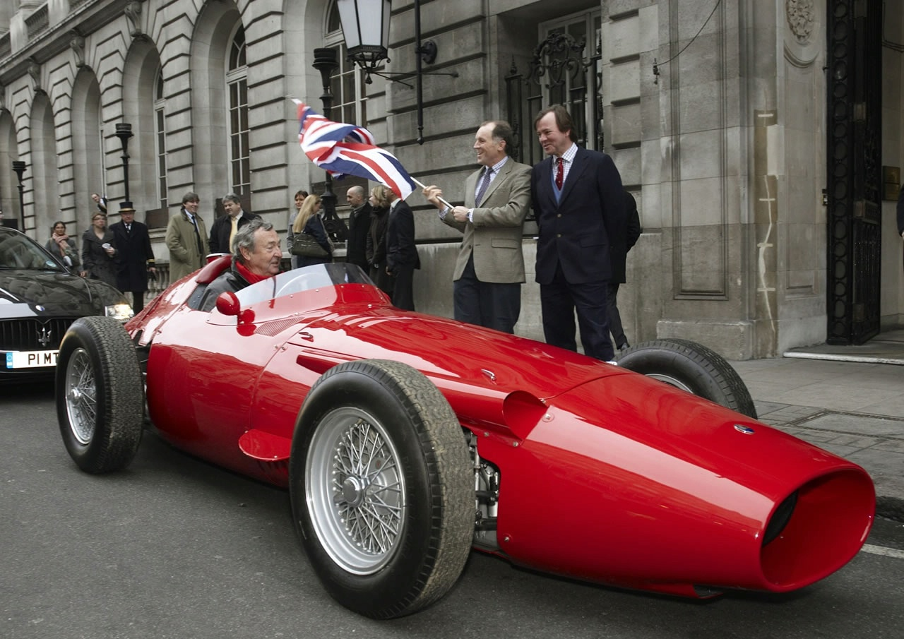 Maserati 250F Voted Greatest Racing Car Ever-pink floyds nick mason in the