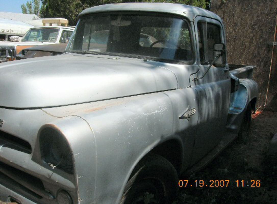 1957 Dodge - Half Ton Pickup Truck Rare. Truck is complete, all original,