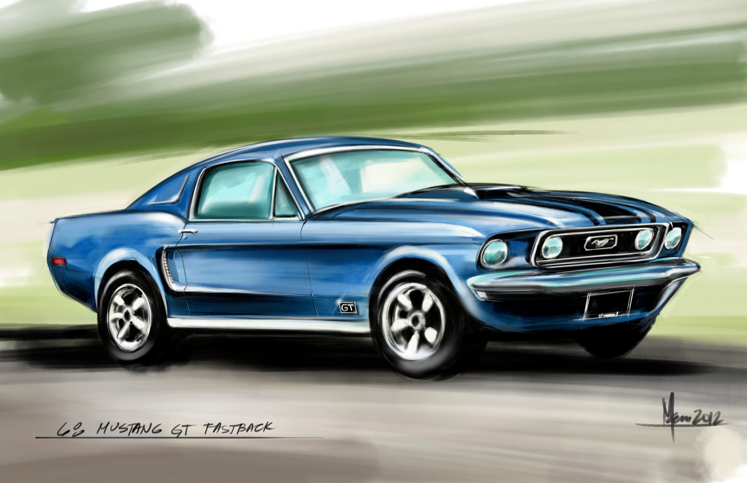 View Full Size | More 68 ford mustang gt fastback