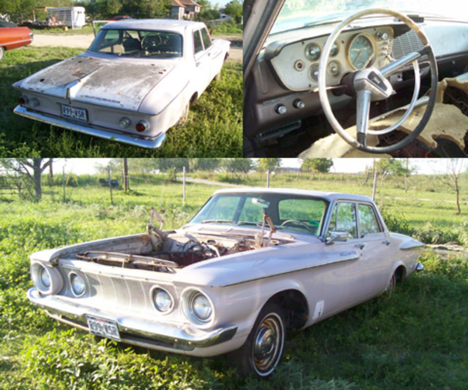 1962 Plymouth Savoy 4dr Sdn, no motor, has alot of good parts, nice grille!