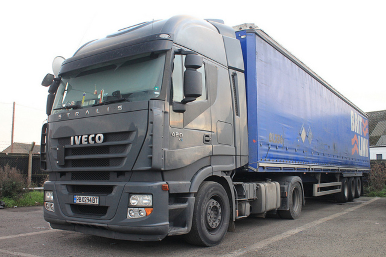 Saw this Iveco Stralis 420,on Bulgarian plates,in Immingham,N.E.Lincs.
