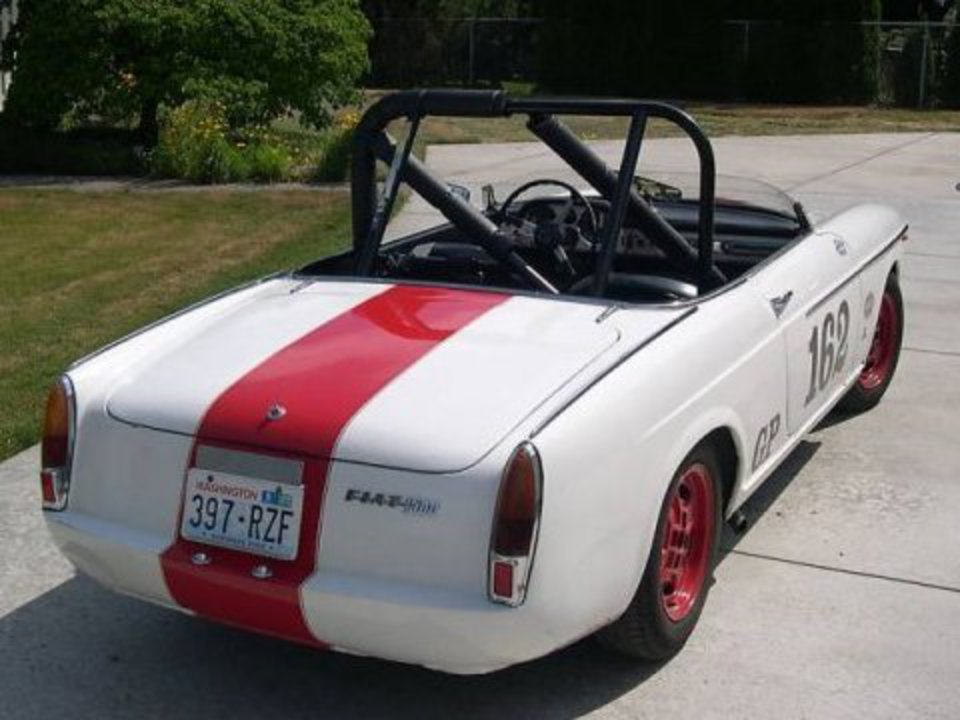 1965 Fiat 1500 Spider Vintage Race Car For Sale Rear