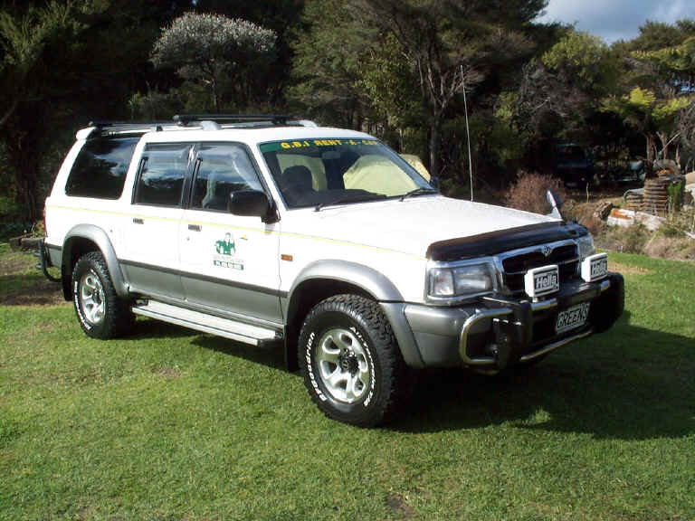 great barrier island car hire ~ mazda proceed marvie 4x4