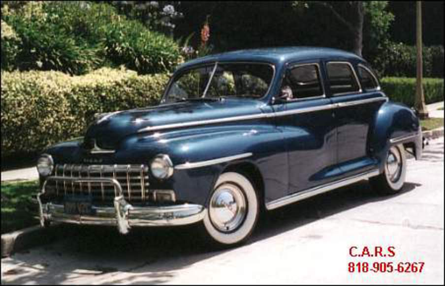 For those of you who don't know what a '46 Dodge Custom Sedan looks like: