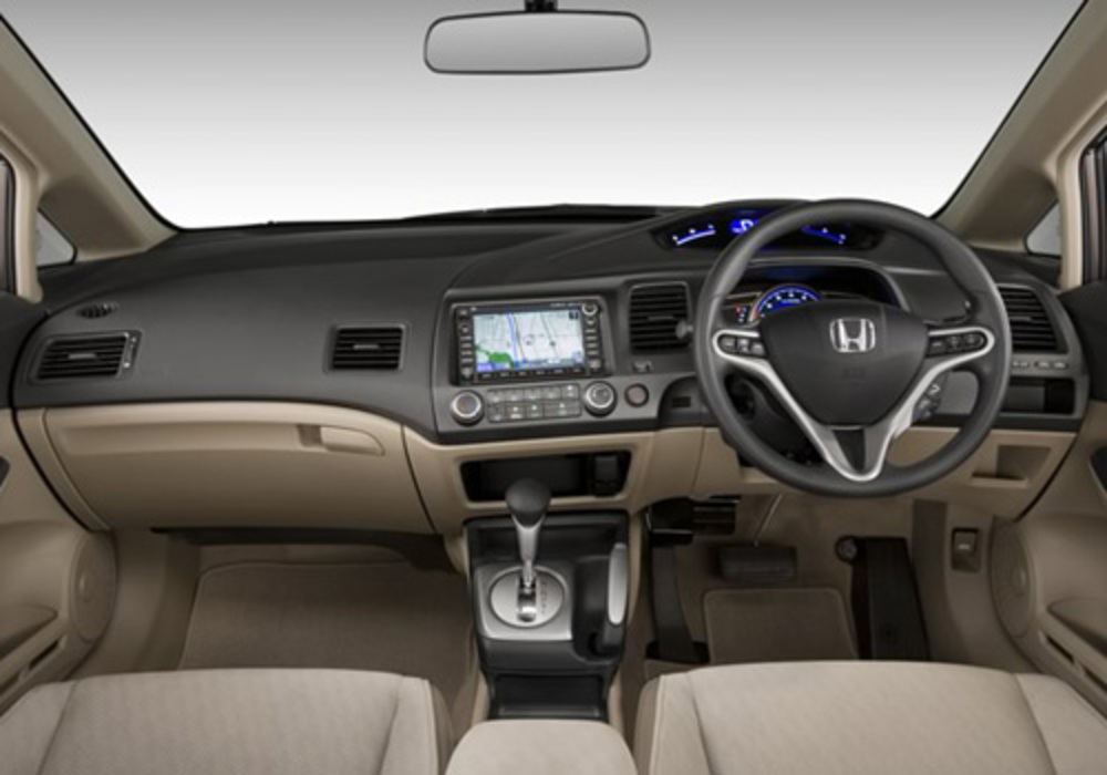 The popular sedan Honda Civic comes featured with advanced braking and
