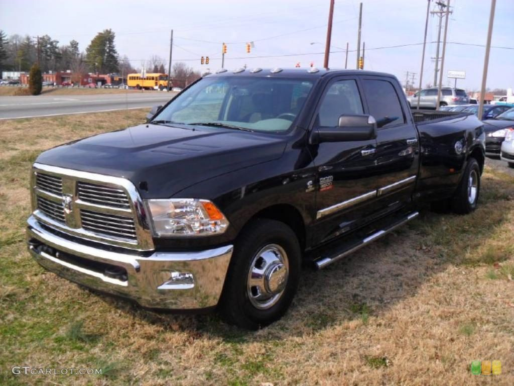 Brilliant Black Crystal Pearl 2010 Dodge Ram 3500 Big Horn Edition Crew Cab