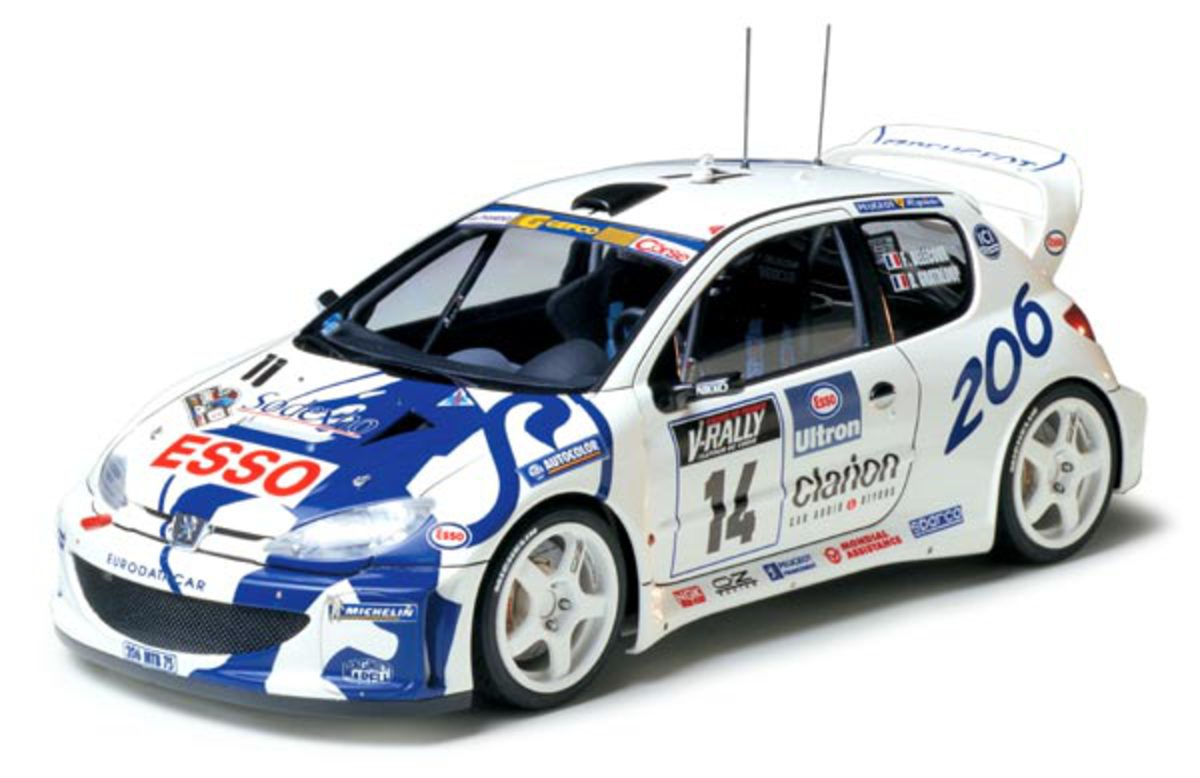 Peugeot 206 WRC. Click for enlarged picture with explanation