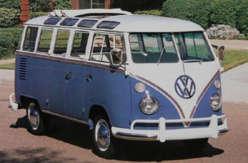 This 1963 Deluxe Station Wagon model Volkswagen Bus started at $2,665.