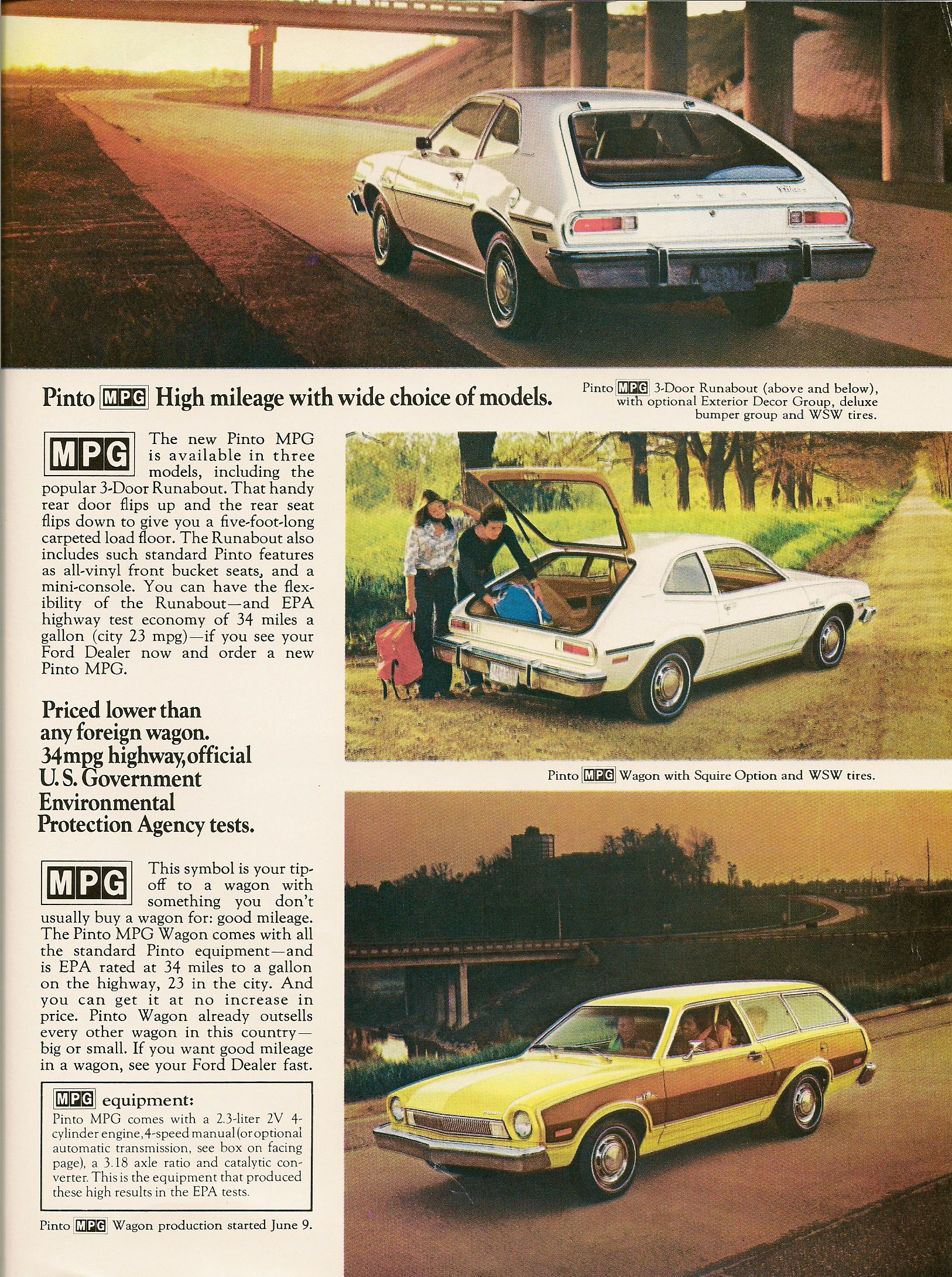 Topworldauto Photos Of Ford Pinto Mpg Photo Galleries 2 3 Engine Diagram Introducing And Mustang Page