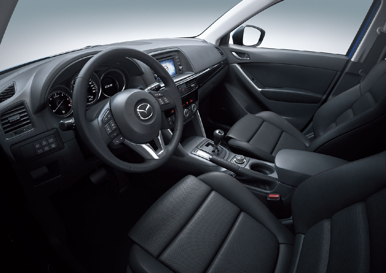 Mazda CX-5. This interior photo gives some tantalizing hints about Mazda's