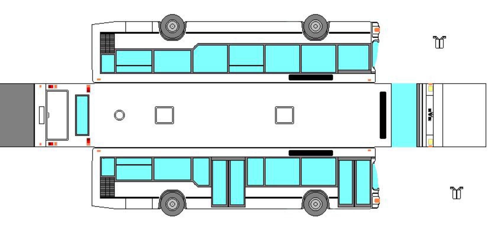 Как сделать картонный автобус