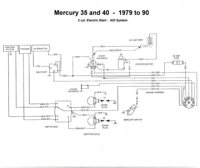 Mercury Start Wiring Diagram : Topworldauto gt photos of mercury photo galleries