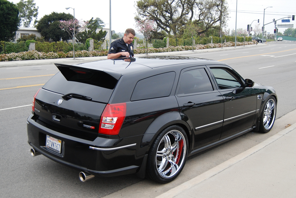 Perfect looking custom Dodge Magnum SRT8.