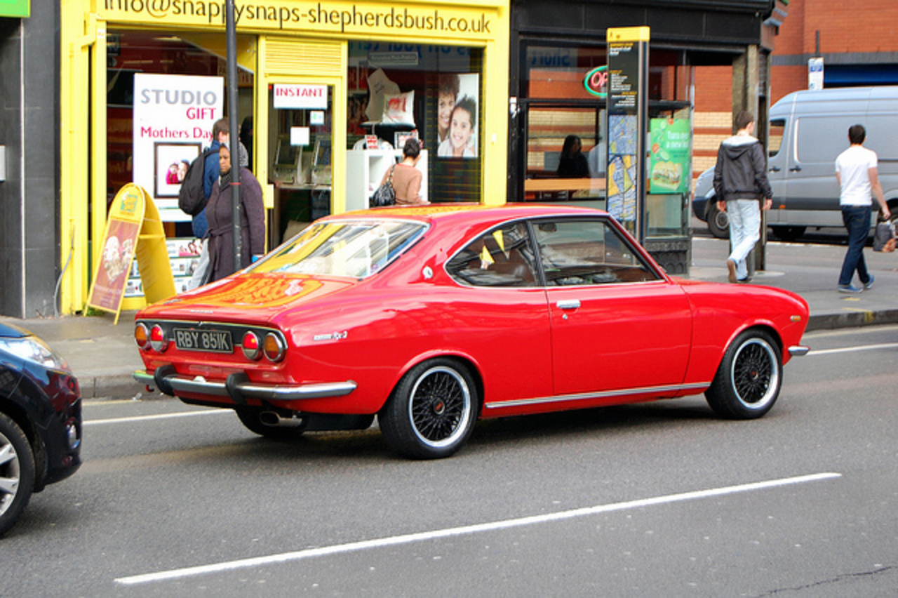 1971 Mazda RX-2 Coupe. Just caught this before it sped off.