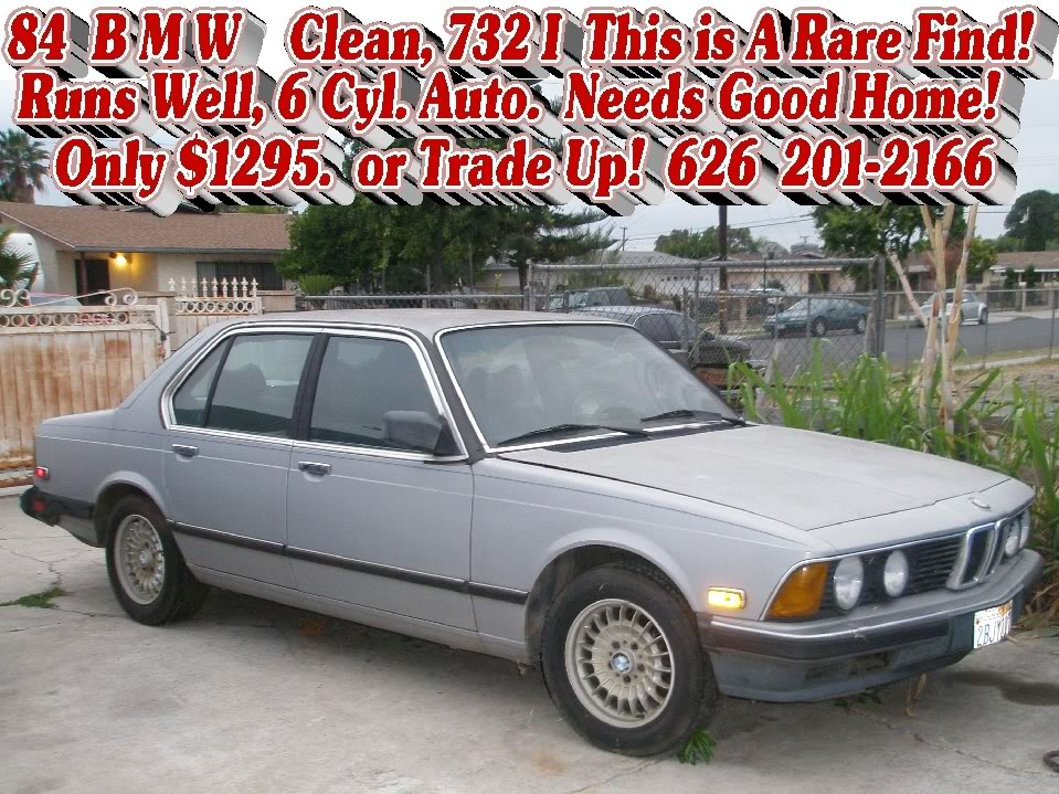 84BMW732I.jpg For Sale 84 B.M.W. 732i