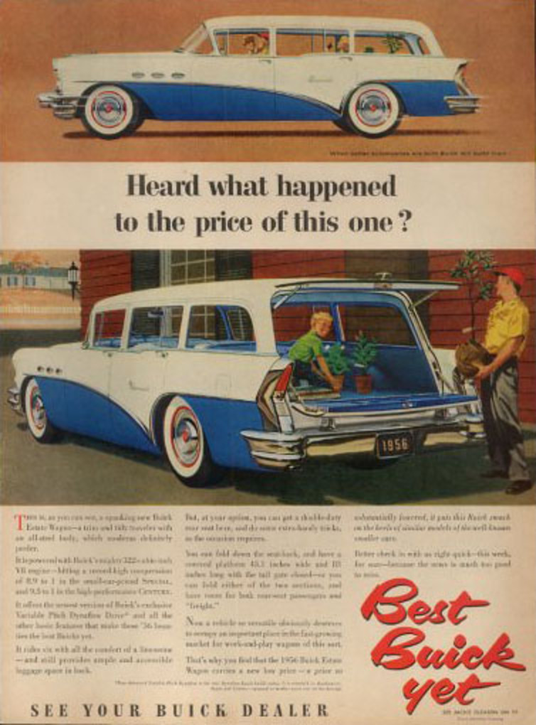 1968 Buick Opel Kadett ad. buick special estate station wagon 56
