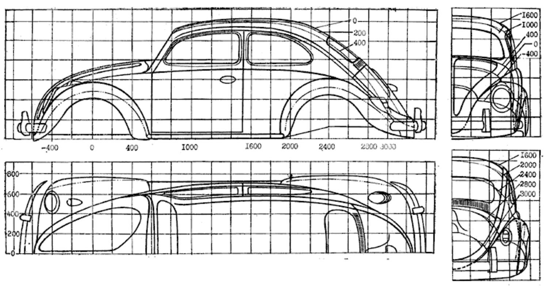 Colorful Dimension Vw Coccinelle 1962 Sketch - Electrical Diagram ...