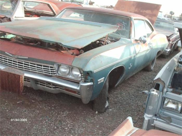 1968 CHEVROLET IMPALA, 2dr HT, 396 motor with automatic, does not run.