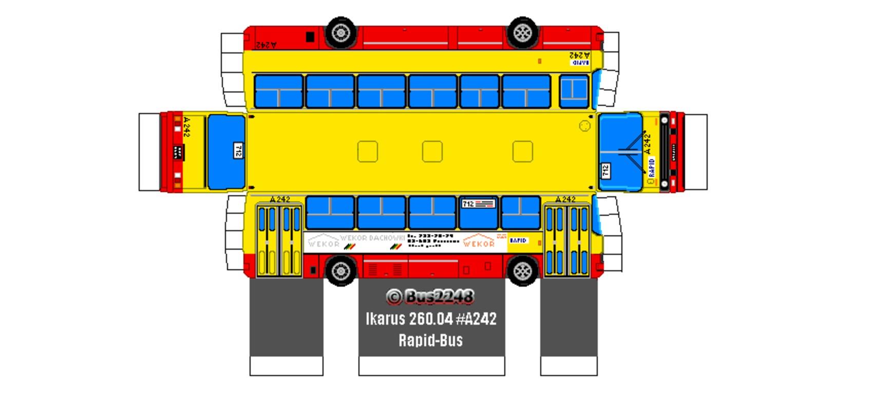Как из картона сделать автобус из