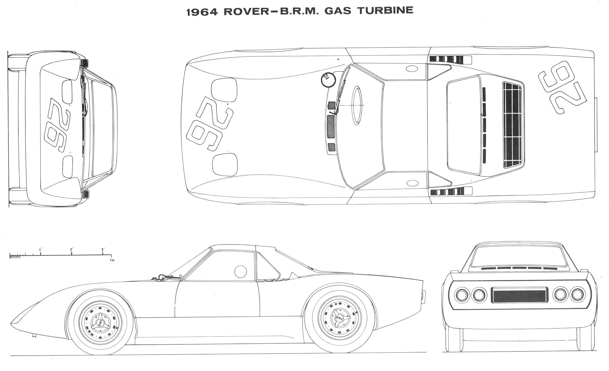 Rover BRM Turbine Roadster