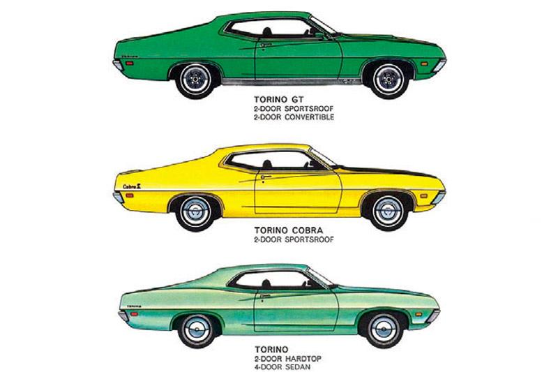 1972 Ford Gran Torino Gran Torino Sport Torina Vintage Sales Brochure