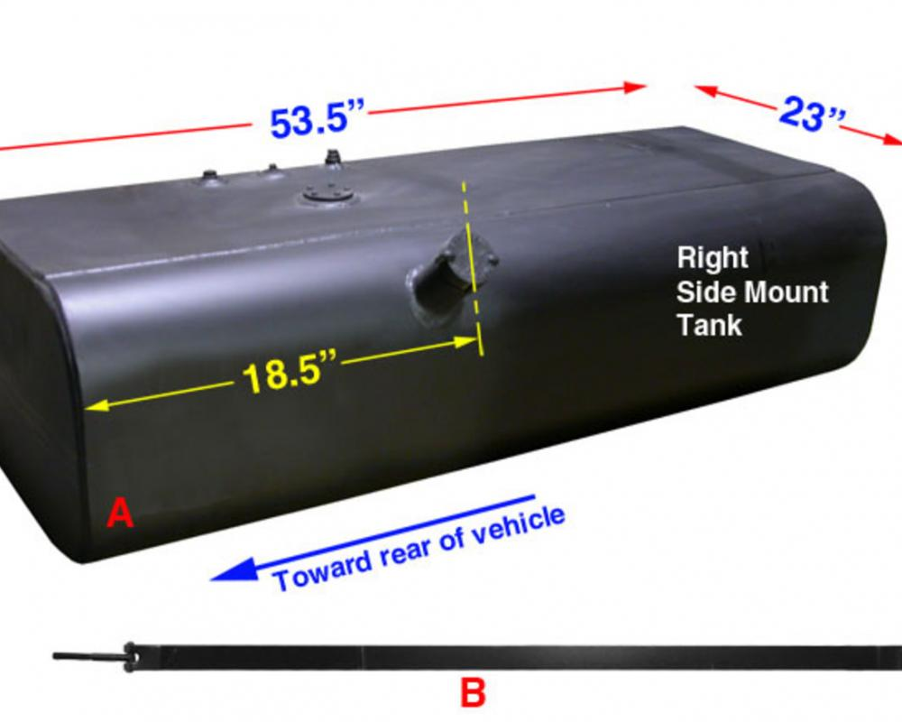 Fuel Tanks Right Side Mount - International Stepvan