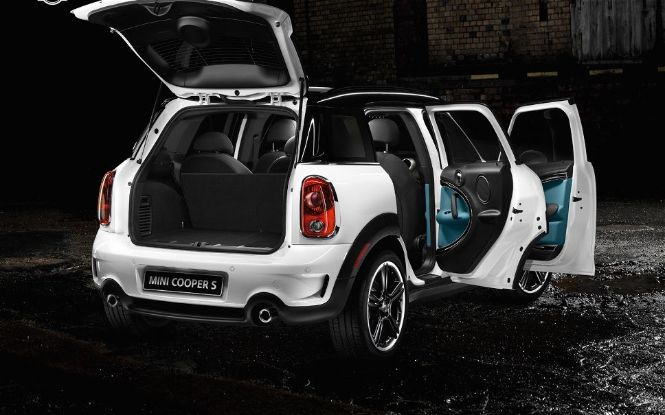 2012 Mini Cooper S Countryman ALL4 Rear Right View Doors Open Photo 4