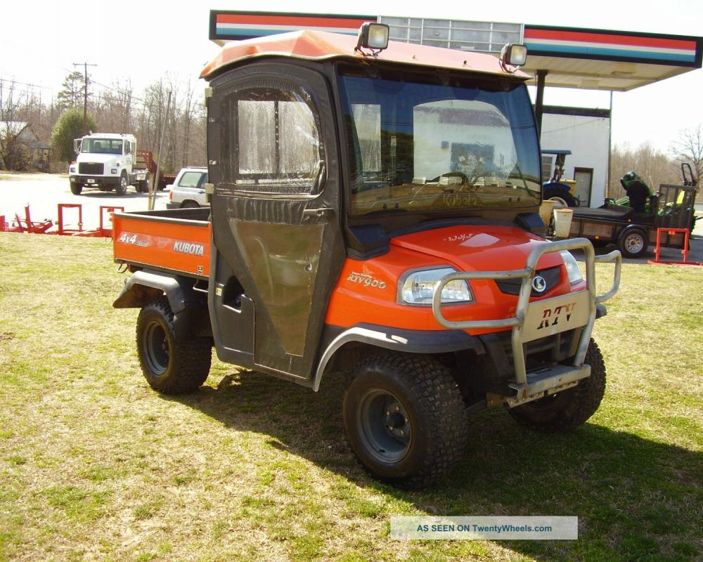Kubota Rtv 900 Enclosed Cab With Heat 4x4 Only 293 Hours