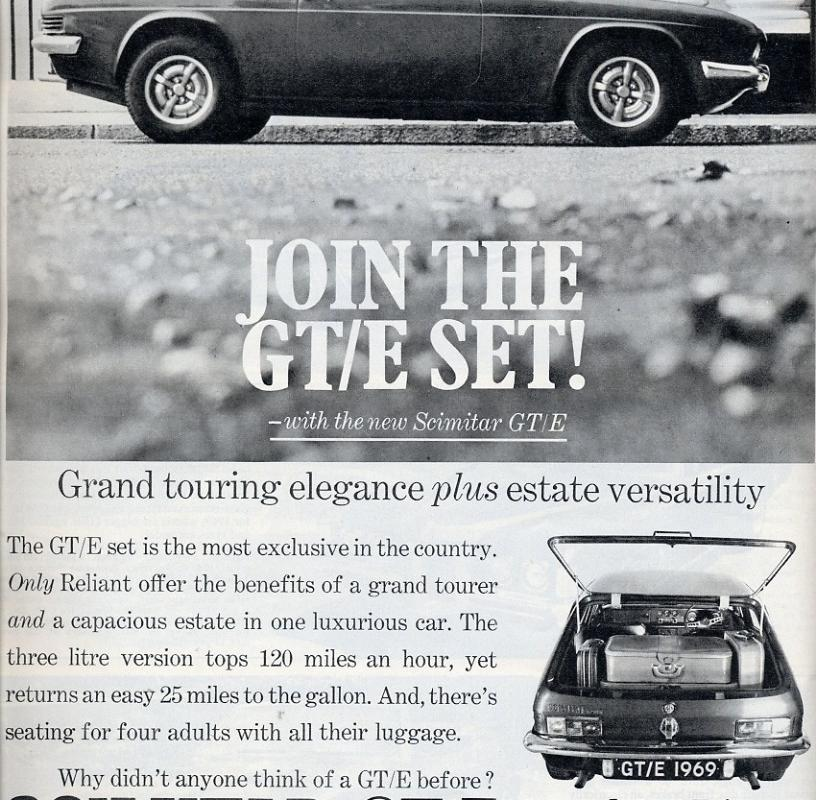 Reliant Scimitar - Vintage Car Ads