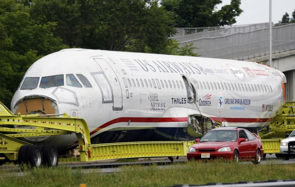 Wingless 'Miracle on Hudson' jet heads for museum (
