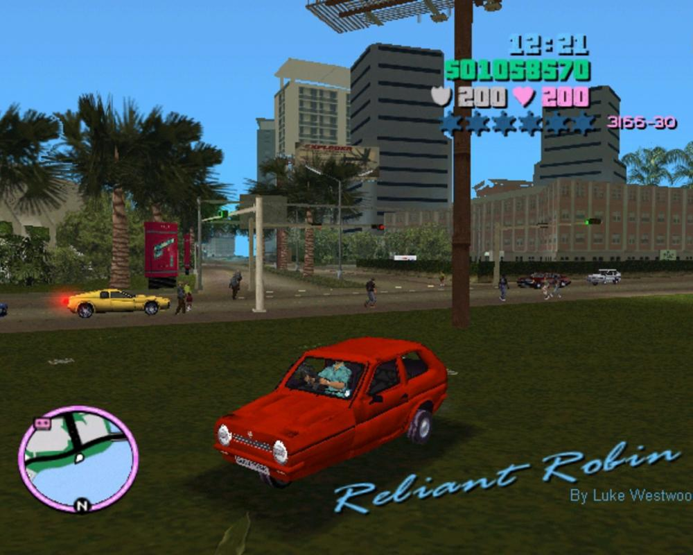 2005 Reliant Robin in GTA VC by Luke Westwood at Coroflot.