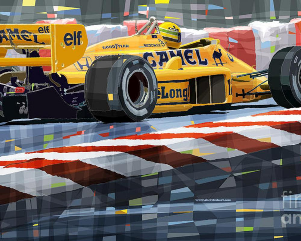 Lotus 99t 1987 Ayrton Senna Digital Art by Yuriy Shevchuk - Lotus ...