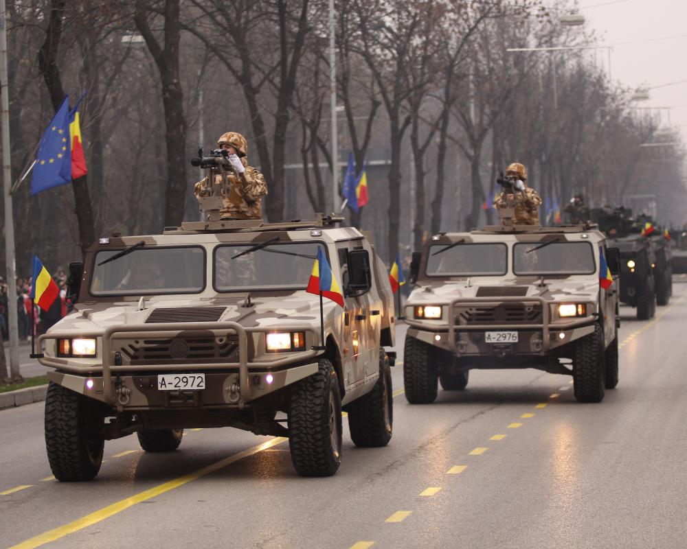 File:Romanian URO VAMTAC vehicles during the Romanian National Day ...