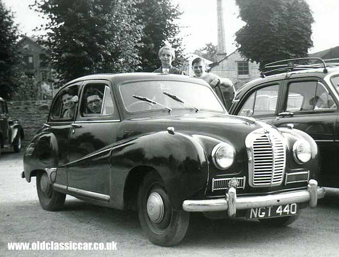 The Austin A40 Somerset saloon.
