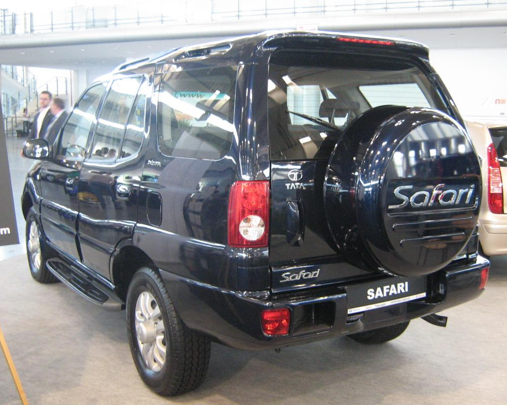 File:Tata Safari II rear - PSM 2009.jpg - Wikimedia Commons