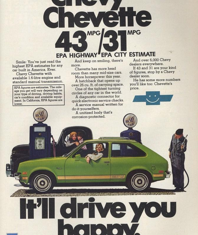 Chevrolet Chevette - Vintage Car Ads