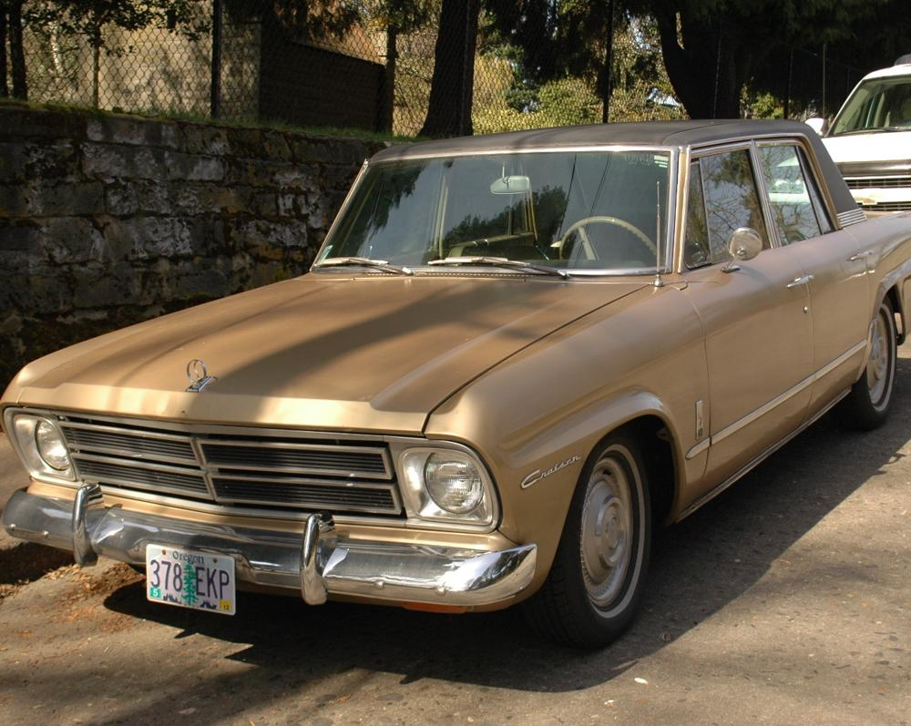 OLD PARKED CARS.: 1966 Studebaker Cruiser.