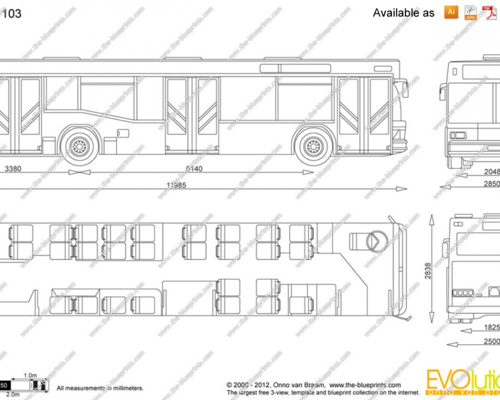 The-Blueprints.com - Vector Drawing - MAZ 103