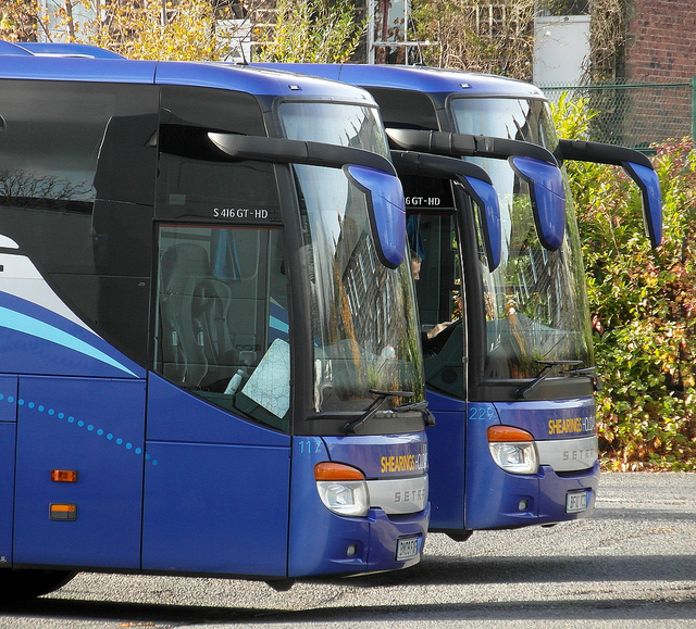 Mirrors !! A Pair Of Shearings Setra's S416 GT HD. 229 & 117. Asda ...
