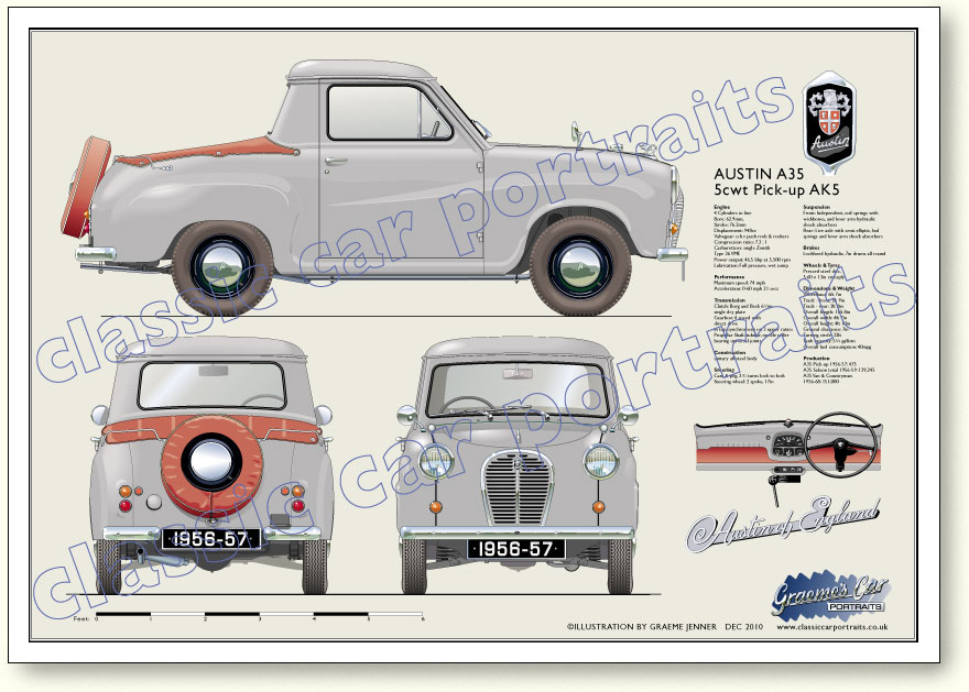 Austin A35 5cwt Pick-up (AK5) 1956-57 classic pick-up portrait