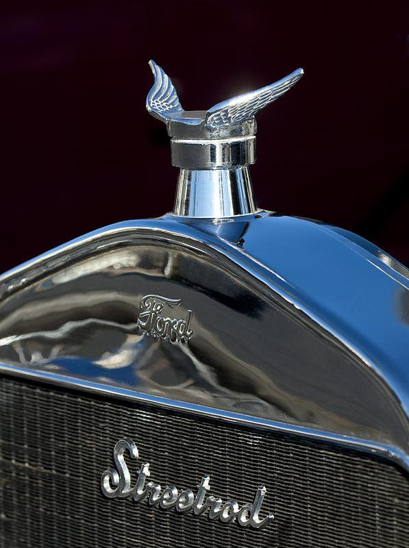Ford Streetrod Hood Ornament Photograph - Ford Streetrod Hood Ornament Fine