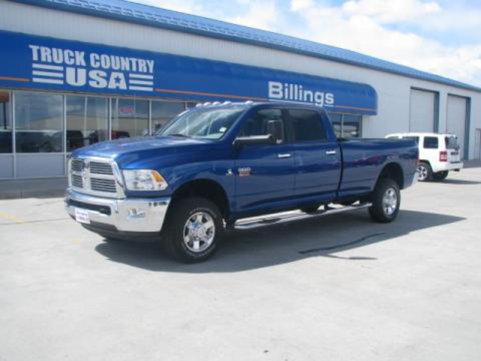 Deep Water Blue 2010 Dodge Ram 3500 Big Horn Edition Crew Cab 4x4 with Dark