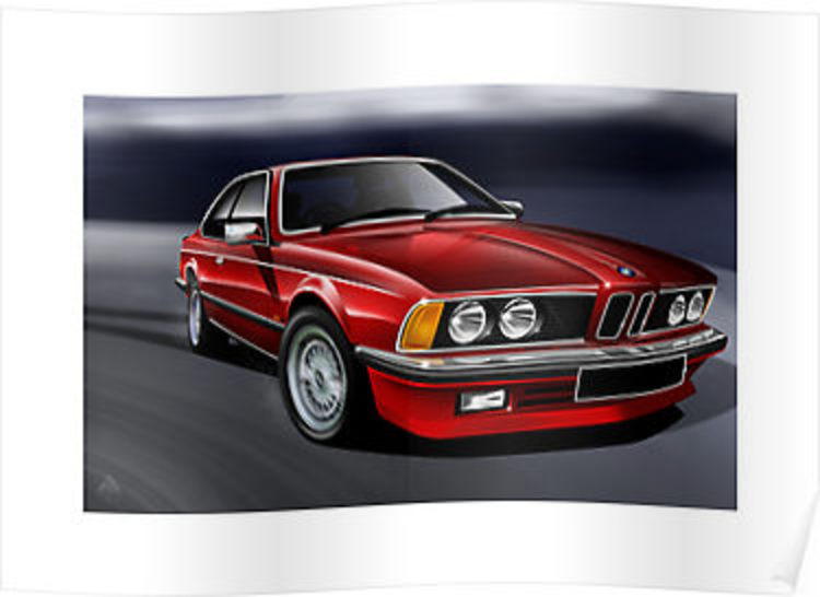 BMW 635i Coupe Illustration by Autographics