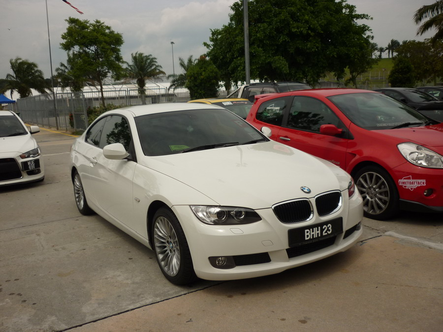 BMW 320i Coupe in the car park of SIC. Spotted during Time To Attack Sepang